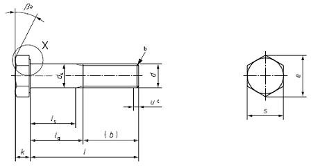 Болт ГОСТ Р ИСО 4014-2013 с шестигранной головкой