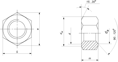 Гайка ГОСТ 5927-70 шестигранная класса точности А