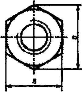 Гайка ГОСТ ISO 4032-2014 шестигранная