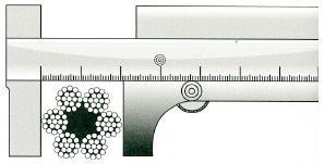 Как измерить диаметр троса при помощи штангенциркуля